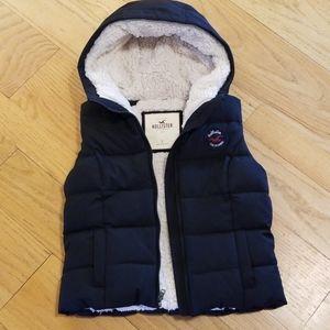 Hollister blue sherpa vest